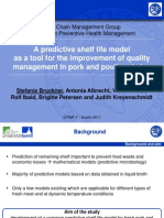 A Predictive Shelf Life Model as a Tool for the Improvement of Quality Management in Pork and Poultry Chains