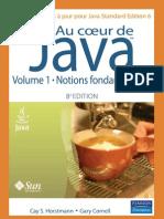 Au coeur de Java 6  - volume 1 Notions fondamentales - 8ème Edition