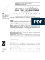 1. Determinants of Capital Structure_ Evidence From Turkish Lodging Companies