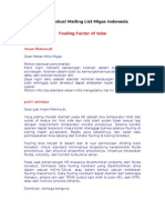 Fouling Factor of Tube