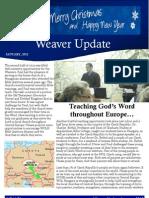 Weaver Prayer Letter January 2012