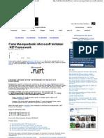 Cara Memperbaiki Microsoft Instalasi .NET Framework