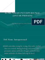 Komunikasi Interpersonal (Antar Pribadi)