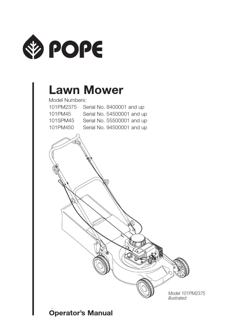 Pope Lawn Mower (101PM2375,101PM45,101SPM45,101PM450