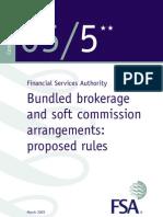 Bundled Brokerage Soft Commissions