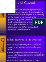 Doctrine of Caveat Emptor and Caveat Venditor