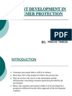 recent deveopment in consumer protection