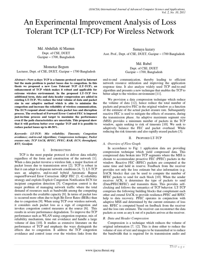 Tcp congestion control phd thesis