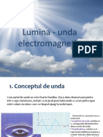 lumina-unda electromagnetica