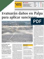 Peligro en Patrimonio Cultural Geoglífos de Palpa en Nasca, Perú