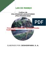 Plan de Manejo Calaguala