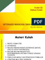 IMK_Kuliah 00 - Silabus