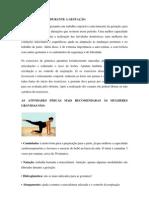 ATIVIDADE FÍSICA DURANTE A GESTAÇÃO,IDOSO CARDIACO