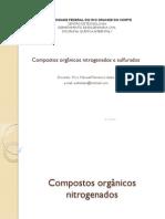 Aula 12- Compostos orgânicos nitrogenados