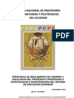 Propuesta de Carrera y Escalafon Fenapupe 08-12-2011