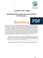 Bloomberg News Falsly Accuses Fairtrade of Child Labour