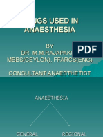 Drugs Used in Anaesthesia