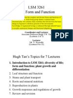 LSM3261_Lecture 1 --- Introduction; Plant Growth and Differentiation