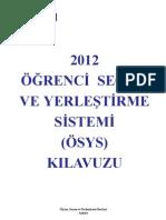 2012 ÖSYS Kılavuzu