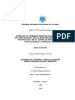 DISEÑO DE UN SISTEMA DE CONTROL DE GESTIÓN BASADO EN LA METODOLOGÍA DEL BALANCED SCORECARD Y GESTIÓN POR PROCESOS EN UN CENTRO DE INVESTIGACIONES BIOTECNOLÓGICAS, GUAYAQUIL 2007