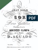 Sor, Fernando - Gran Solo Op. 14 (Arr. Dionisio Aguado)