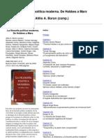 Boron, Atilio - La Filosofia Politica Moderna. de Hobbes a Marx (Parte 1)