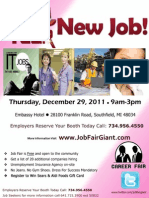 Michigan JOB FAIR  - December 29, 2011