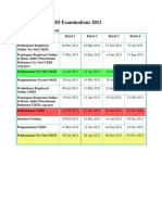 Timetable for UKDI Examinations 2012