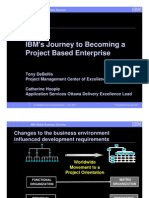 IBM Journey to Becoming Project Based Enterprise