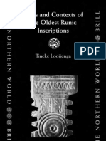 Texts Contexts of the Oldest Runic Inscriptions by Tineke Looijenga