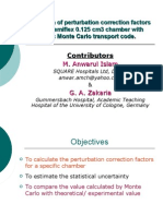Investigation of perturbation correction factors for PTW semiflex 0.125 cm3 chamber with EGSnrc Monte Carlo transport code