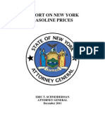 Report on New York Gasoline Prices