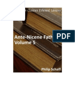 The Ante-Nicene Fathers Vol 5 - Philips Schaff