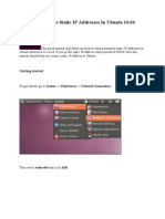 How to Configure Static IP Addresses in Ubuntu 10