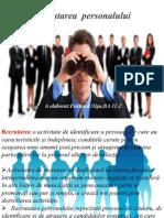 Recrutarea și selecția personalului