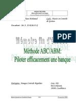 Méthode ABC.ABM. Piloter efficacement une banque Cas de la Banque Centrale Populaire