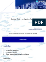 Gestion Active vs Passive