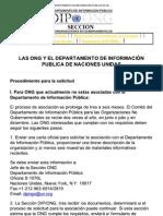 Proceso de Registro ONGS