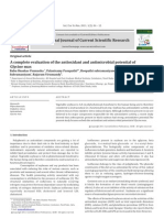 A Complete Evaluation of the Antioxidant and Antimicrobial Potential of Glycine Max