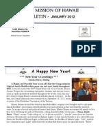 Jodo Mission of Hawaii Bulletin - January 2012