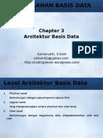 Chapter 3 - Arsitektur Basis Data