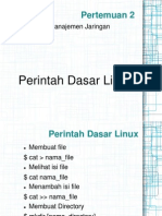 Pertemuan 2 - Perintah Dasar Linux