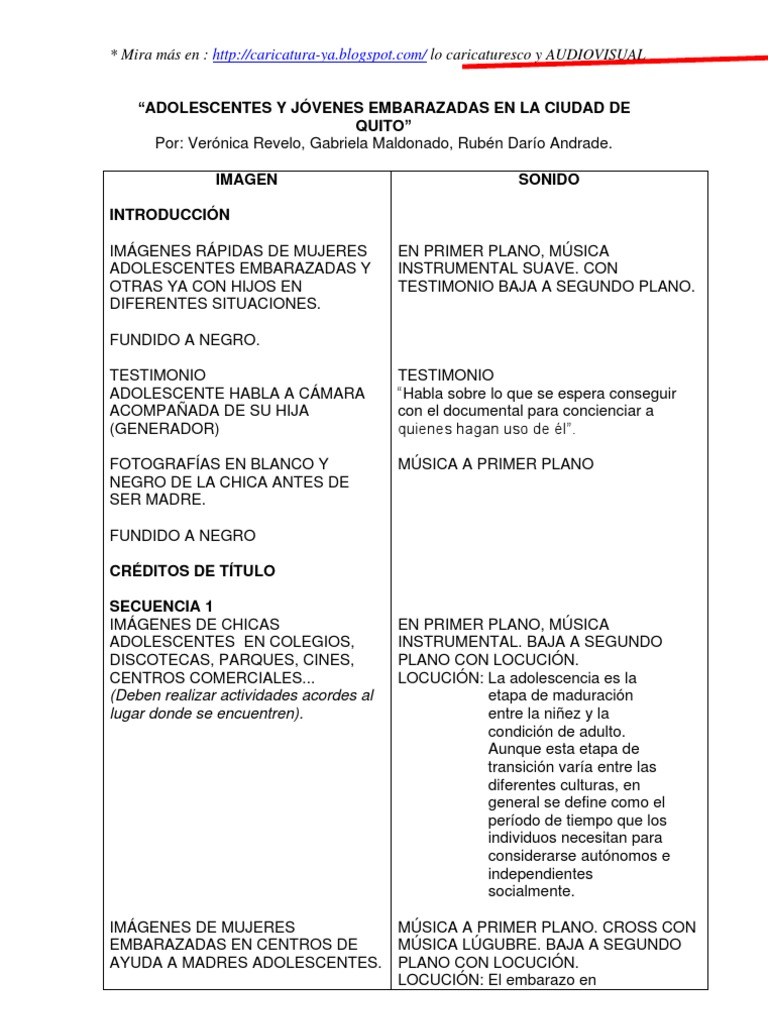 GUIÓN DOCUMENTAL pdf