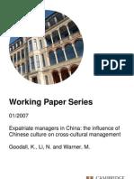 Expat in China-Cambridge Paper