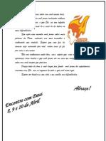 Carta Do Encontro Com Deus