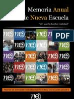 Memoria Anual Nueva Escuela - 2011