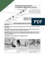 Bio Filter Instructions