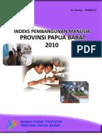 Indeks Pembangunan Manusia Provinsi Papua Barat 2010