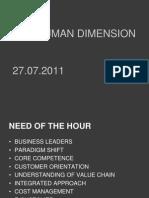 #3 27.07.2011 Human Dimension