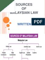5. Written Law